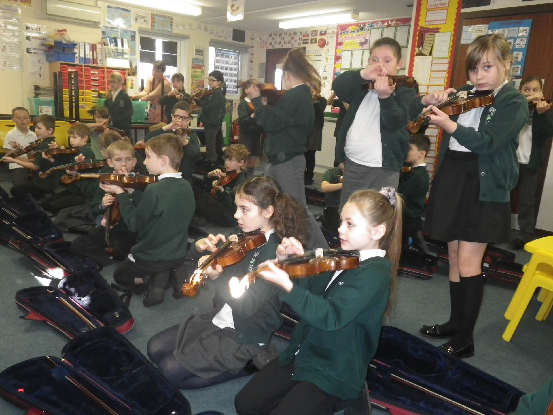 Violins with Mrs Morgan